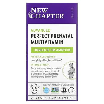 Купить New Chapter Perfect Prenatal Multivitamin 96 Tablets