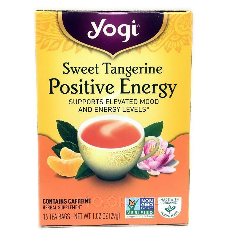 Йоги чай положительная Энергия сладкий мандарин 16 пакетиков 2... фото товара