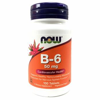 Купить Now Foods B-6 50 mg 100 Tablets