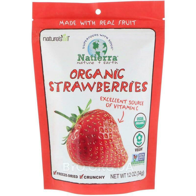 Natures All Organic Strawberries Freeze Dried 1.2 34 g фото товара