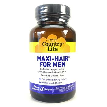 Купить Country Life Maxi-Hair for Men 60 Softgels