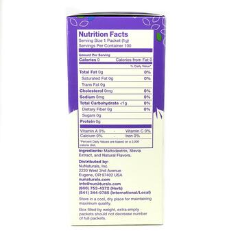 Органическая стевия 100 пакетиков по 100 гр  фото состава