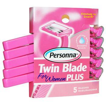 Персонна Станки для бритья с двойным лезвием для женщин 5 шт  фото состава