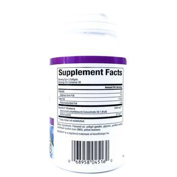 Нечерал Факторс Черничный концентрат 500 мг 90 капсул  фото состава