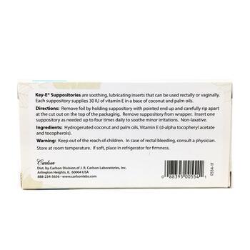 Суппозитории Витамин E 24 суппозитории  фото состава
