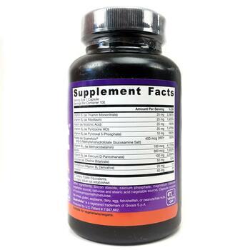 комплекс витаминов В 100 капсул  фото состава