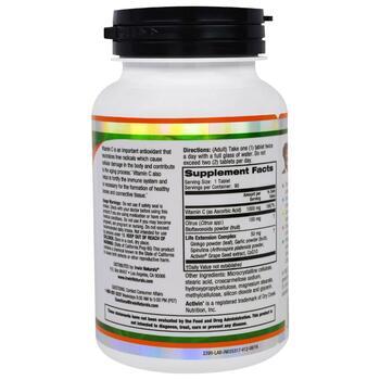 Ирвинг Нейчералс Лайнус Полинг Витамин C 1000 мг 90 таблеток  фото состава