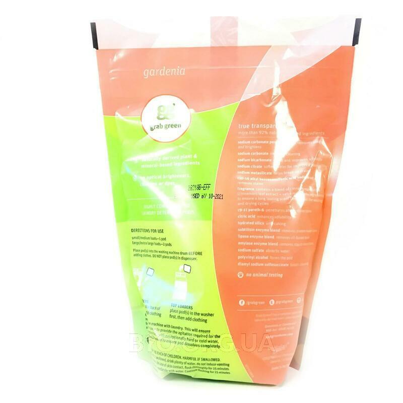 Фото состава 3-in-1 Laundry Detergent Pods Gardenia 24 Loads 384 g