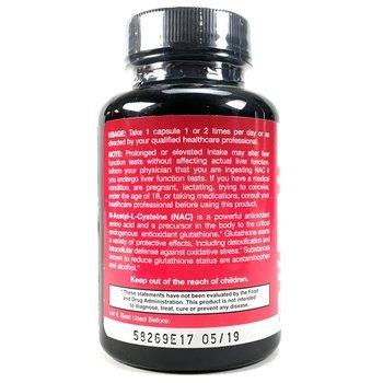 NAC N-ацетил-L-цистеин 500 мг 100 растительных капсул  фото состава