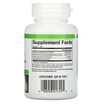 Chewable Papaya Enzymes 120 Tablets  фото состава