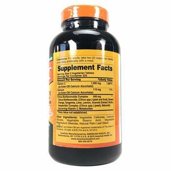 Американ Хелс Витамин Эстер C с Биофлавоноидами цитрусовых 500...  фото состава