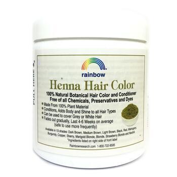 Рейнбоу Ресёрч Хна природная краска для волос с кондиционером ...  фото состава