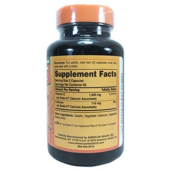 Американ Хелс Витамин Эстер C 500 мг 120 капсул  фото состава