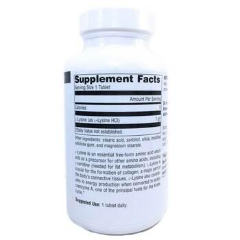 L-лизин 1000 мг 100 таблеток  фото состава