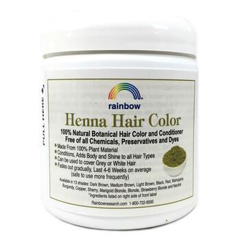 Рейнбоу Ресёрч 100 растительная хна краска и бальзам для волос...  фото состава