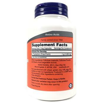 L-Триптофан 500 мг 120 капсул  фото состава