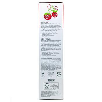 Натуральная зубная паста гель для детей без фтора Вишня 141 г  фото состава