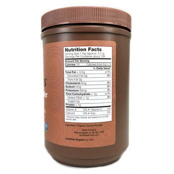 Органический какао порошок 340 г  фото состава
