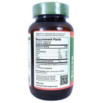 Гавайская спирулина 3000 мг 180 таблеток  фото состава