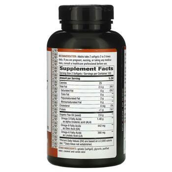 Нэйчерс Вэй EFAGold Flax Oil Max Strength 1300 mg 200 Softgels  фото состава