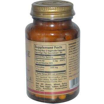 L Carnitine 250 mg 60 Veggie Caps  фото состава