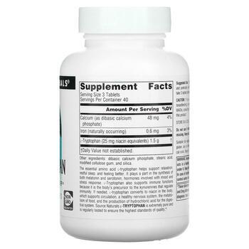 Л-Триптофан 500 мг 120 таблеток  фото состава