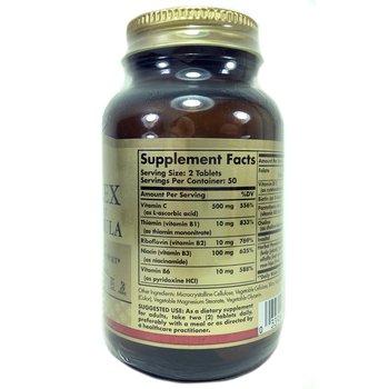 B-комплекс с витамином С Стресс Формула 100 таблеток  фото состава
