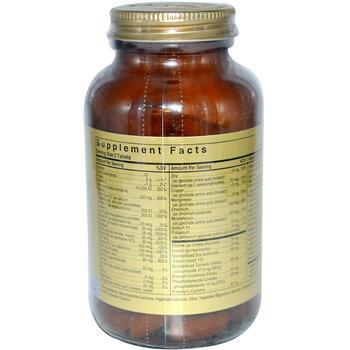 Омниум мультивитаминная и минеральная формула железа 100 таблеток  фото состава