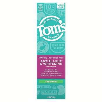 Томс Мэйна отбеливающая зубная паста без фтора мята 155.9 г  фото состава