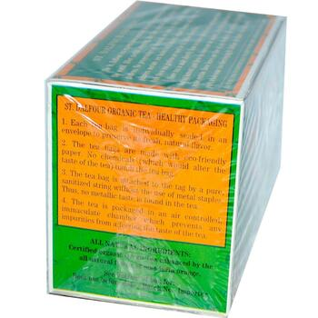 Dalfour Органический зеленый чай Мандарин 25 чайных пакетиков ...  фото состава