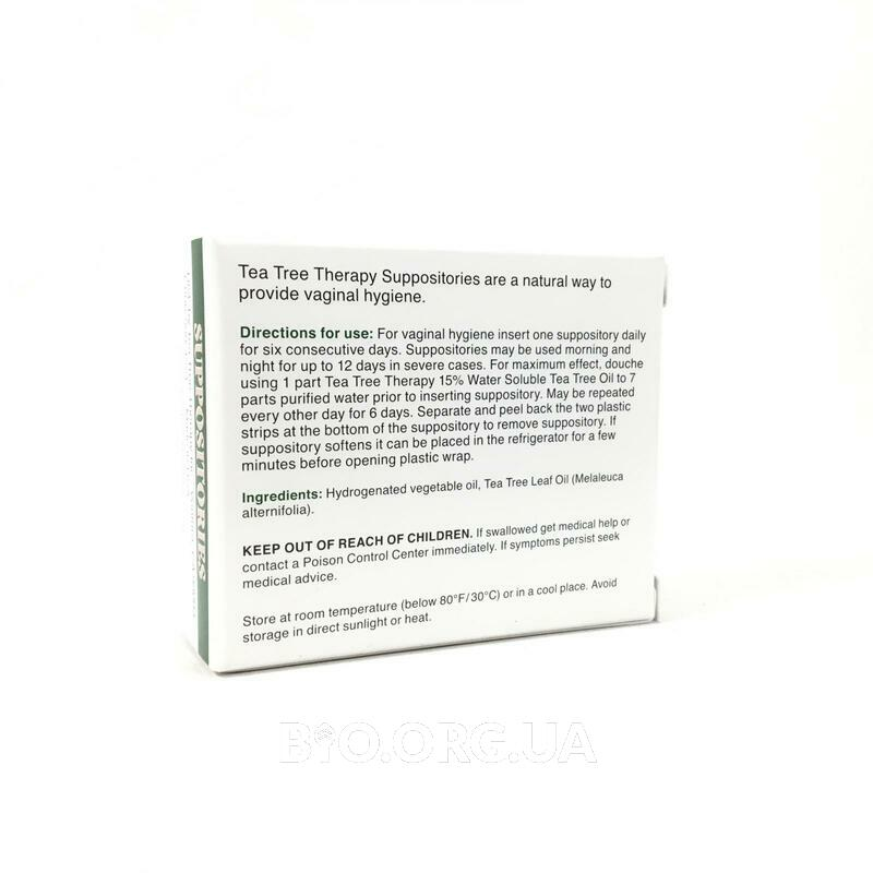 Фото состава Suppositories with Tea Tree Oil for Vaginal Hygiene 6 Suppositories