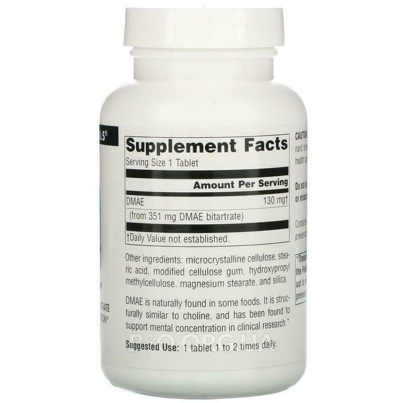 Фото состава DMAE 351 mg 200 Tablets