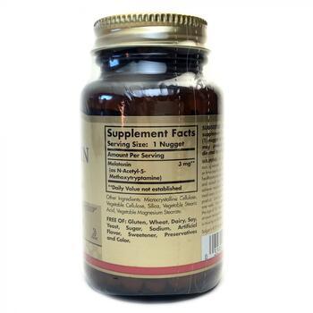 Мелатонин 3 мг 120 таблеток  фото состава