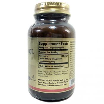 Ресвератрол 100 мг 60 растительных капсул  фото состава