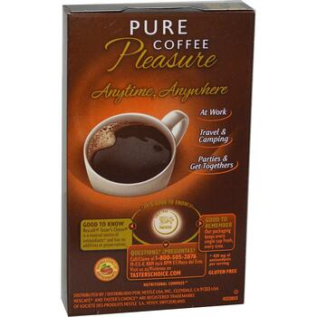 Tasters Choice Instant Coffee French Roast 6 Packets 0.07 2 g ...  фото состава
