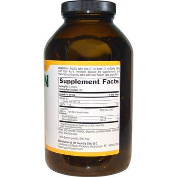 Лецитин 1200 мг 300 гелевых капсул  фото состава