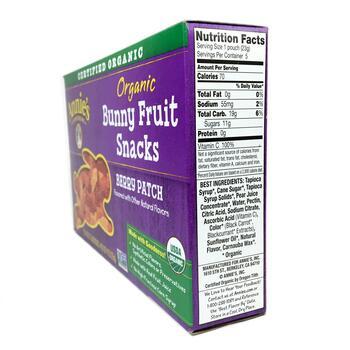 Энни органические мармеладные зайки ягодный вкус 5 упаковок 23...  фото состава
