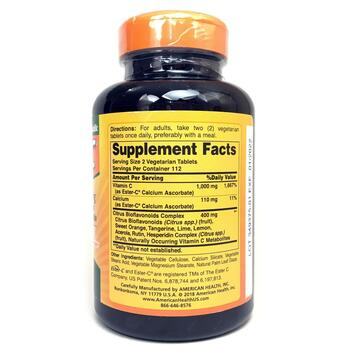Эстер-C 500 мг с Биофлавоноидами цитрусовых 225 таблеток  фото состава