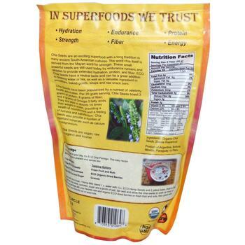 Органические Семена Чиа 340 г  фото состава