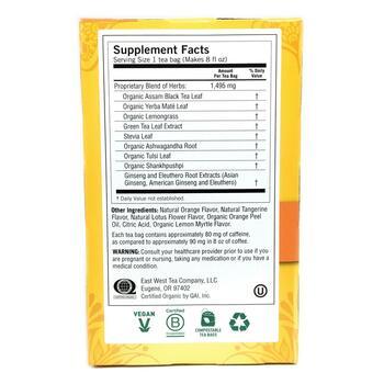 Йоги чай положительная Энергия сладкий мандарин 16 пакетиков 2...  фото состава