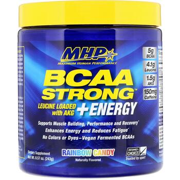 Maximum Human Performance ООО BCAA Strong + Energy Rainbow Can...  фото применение