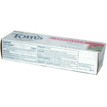 Томс Зубная паста для чувствительных зубов без фтора морозная ...  фото применение