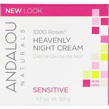 Андалу Нейчералс ночной крем для чувствительной кожи 1000 роз ...  фото применение