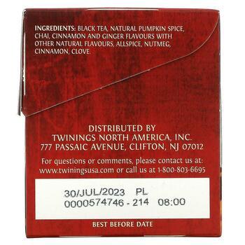 Chai Pumpkin Spice 20 Tea Bags 1.41 40 g  фото применение