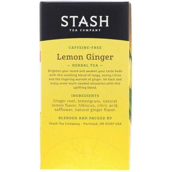 Premium Лимонный имбирь Травяной чай без кофеина 20 чайных пак...  фото применение