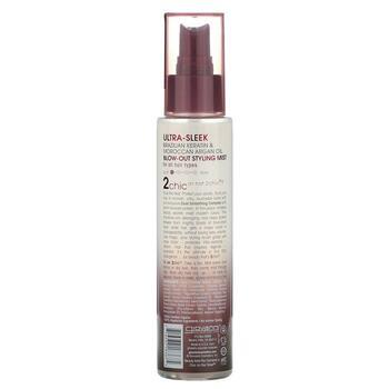 2Chic Blow Out Styling Mist Brazilian Keratin Argan Oil 118 ml  фото применение