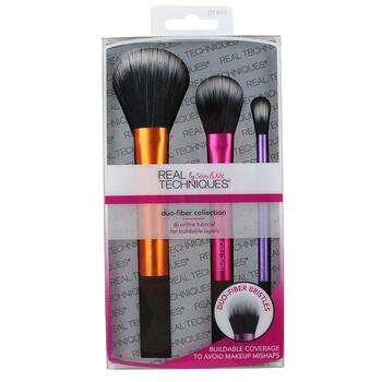 Real Techniques by Sam and Nic Duo Fiber Collection 3 Brush Set  фото применение