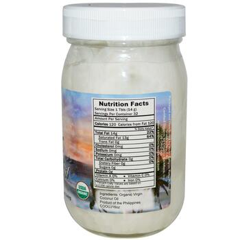 Coconut Oil Organic Virgin 16 454 g  фото применение