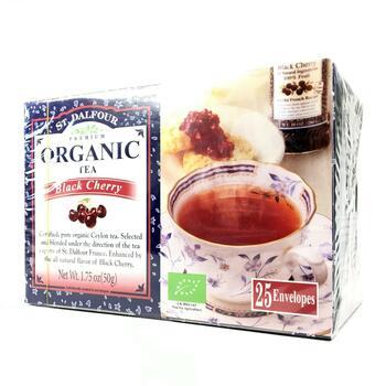 Органический черный чай черная вишня 25 пакетиков  фото применение