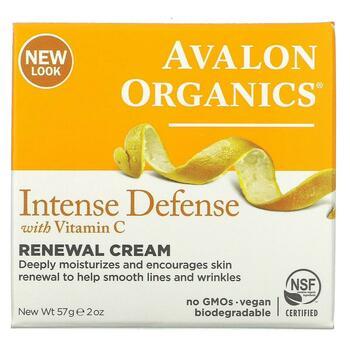 Авалон Органикс крем интенсивная защита с витамином С 57 г  фото применение